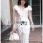 Elegant Middle Lady Ribbon Cotton Dress thumbnail 3
