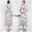 🎀 Lady Ribbon's Made 🎀 Lady Babara Wild Printed White Shirt Dress thumbnail 2