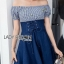 Lady Carrie Country Girl Off-Shoulder Blue thumbnail 1