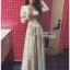 Lady Maryanne Cream Lace Cropped Top and Maxi Skirt thumbnail 2