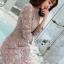 Lady Stella Flower Lace Dress in Beige thumbnail 2