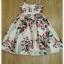 เดรส ผ้าสีครีมลายดอกกุหลาบสีชมพู thumbnail 5
