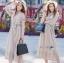 Gracious Gray Lace Midi Dress thumbnail 2