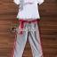 เสื้อขาวกางเกงลายริ้วชุดแฟชั่นลุคสาวเกาหลี thumbnail 6