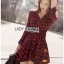 Lady Charlotte Red Tartan Ruffle Shirt Dress thumbnail 3