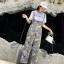 เสื้อยืดเอี๊ยมกางเกงเกาหลีเสื้อผ้ายืด thumbnail 5