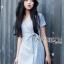 Rosa Sweet Casual Pastel Mini Dress with Ribbon thumbnail 4