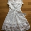 White Flower Lace Lady Ribbon Mini Dress thumbnail 5
