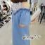 เดรสยีนส์สวยเก๋ลุคสาวเกาหลี ดีเทลเดรสเนื้อผ้าสียีน thumbnail 7