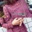 Lace Dress เดรสผ้าลูกไม้สีชมพูฟูเชีย thumbnail 5