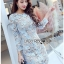 Lady Kathrine Baby Blue Lace Dress thumbnail 3