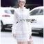 Mini Dress เดรสผ้าลูกไม้สีขาวตกแต่งริบบิ้น thumbnail 4