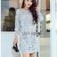 Lady Kathrine Baby Blue Lace Dress thumbnail 2