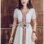 White Dress Lady Ribbon เดรสสีขาวสไตล์อินเดีย thumbnail 2
