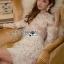 🎀 Lady Ribbon's Made 🎀 Lady Gabriella Elegant Chic Mixed Lace Dress thumbnail 4
