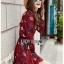 Lady Alora Spring Blossom Printed Ruffle Crepe Dress thumbnail 4