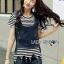 Lady Cindy Striped T-Shirt and Denim thumbnail 1