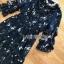 Navy Blue Chiffon Ruffle Maxi Dress thumbnail 6