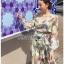 Lady Fiona Artsy Paint Printed Silk Wrap Dress thumbnail 3