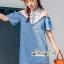 เดรสยีนส์สวยเก๋ลุคสาวเกาหลี ดีเทลเดรสเนื้อผ้าสียีน thumbnail 2