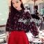 Lady Elena Mini Cherries Cut-Out Chiffon thumbnail 3