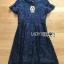 Lace Dress เดรสผ้าลูกไม้สีน้ำเงินเข้มทรงเบสิก thumbnail 10