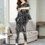 เสื้อกางเกงเกาหลีผ้าพื้นสีดำ thumbnail 4