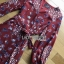 Lady Red Monica Floral Patterned Printed Wrap Dress thumbnail 4