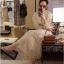 Maxi Dress เดรสยาวผ้าลูกไม้สีครีม thumbnail 1
