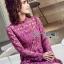 Lace Dress เดรสผ้าลูกไม้สีชมพูฟูเชีย thumbnail 4