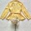 เสื้อเชิ้ทแขนยาวเนื้อผ้าคอตตอนโทนสีเหลืองสว่าง thumbnail 10
