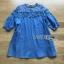 Mini Dress มินิเดรสผ้าเดนิมตกแต่งลูกไม้สไตล์ลำลอง thumbnail 9