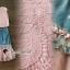 เสื้อลูกไม้สีชมพู / กระโปรงสียีนส์ thumbnail 5