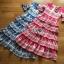 Lady Rita Italian Printed Ruffle Maxi Dress thumbnail 1