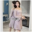 Off-Shoulder Lady Ribbon Lace Dress thumbnail 1