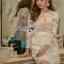 🎀 Lady Ribbon's Made 🎀 Lady Gabriella Elegant Chic Mixed Lace Dress thumbnail 5