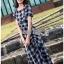 Dress เดรสพิมพ์ลายตารางสก็อตสีดำ thumbnail 5