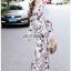 🎀 Lady Ribbon's Made 🎀 Lady Babara Wild Printed White Shirt Dress thumbnail 7