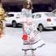 Dress ทรงคอสูงแขนระบายลายวินเทจ thumbnail 2
