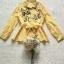 เสื้อเชิ้ทแขนยาวเนื้อผ้าคอตตอนโทนสีเหลืองสว่าง thumbnail 8