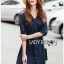 Lady Natalie Minimal Organza and Denim Cotton Shirt Dress thumbnail 3