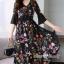 ชุดเดรสดอกเกาหลีผ้าชีฟองลายดอก thumbnail 5