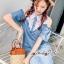 เดรสยีนส์สวยเก๋ลุคสาวเกาหลี ดีเทลเดรสเนื้อผ้าสียีน thumbnail 4