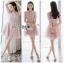 Lady Monica Baby Pink Tulle Mini Dress thumbnail 1