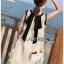 Dress เดรสแขนกุดผ้าลินินสีครีมปักพู่ thumbnail 6