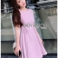 Lady Ribbon Pink Crepe Dress thumbnail 3