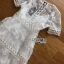 Embroidered Lady Ribbon White Lace Dress thumbnail 7