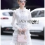 Mini Dress เดรสผ้าลูกไม้สีขาวตกแต่งริบบิ้น thumbnail 5