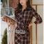 Lady Rachel Ribbon Twist Tartan Wool Shirt Dress thumbnail 4