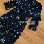 Navy Blue Chiffon Ruffle Maxi Dress thumbnail 5